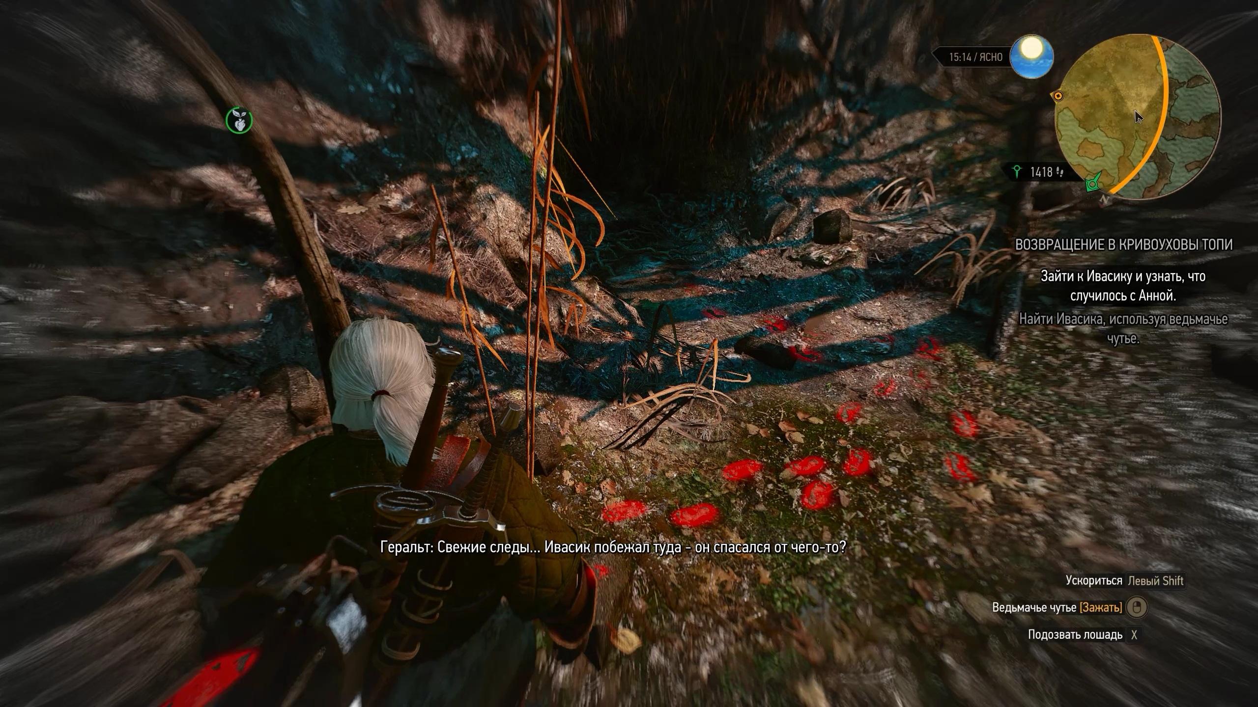 Ведьмак 3 Дикая охота Задание Возвращение в Кривоуховы топи